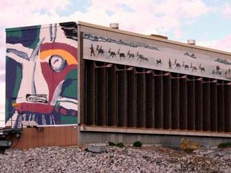 Akkats Centrale, mural, Sweden, 1999