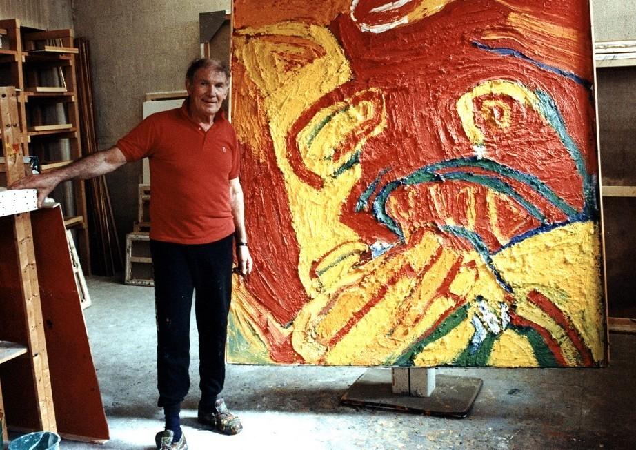 Lindström in his atelier