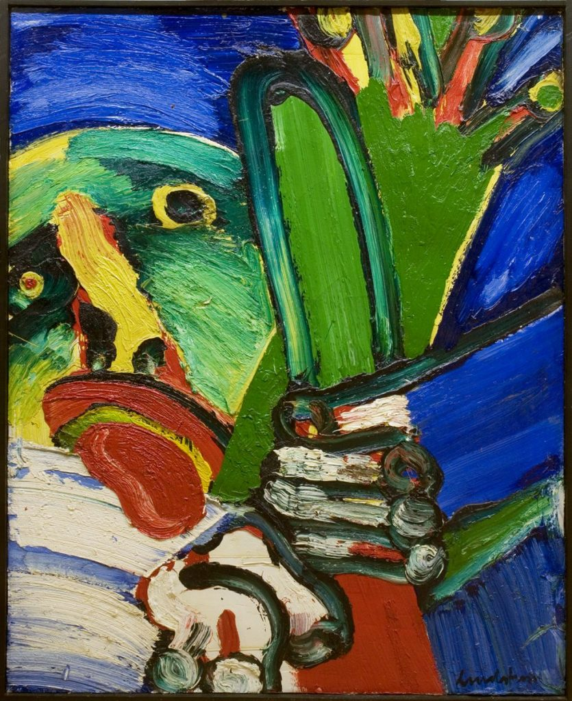 Murder in Lapland, 1968, oil on canvas, 162 x 130 cm
