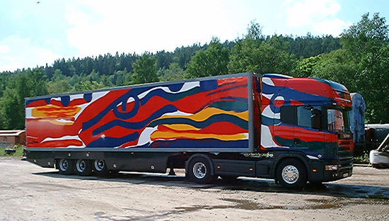 The truck, Scania, Sweden, 2000