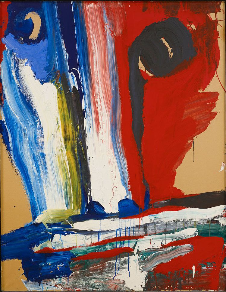Under the glance of a god, 1985, acrylic, 146 x 114 cm
